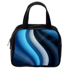 Abstract Pattern Lines Wave Classic Handbags (One Side)