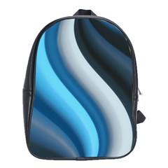 Abstract Pattern Lines Wave School Bags(Large)
