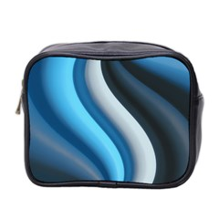 Abstract Pattern Lines Wave Mini Toiletries Bag 2-Side