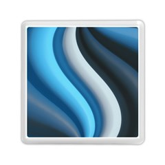 Abstract Pattern Lines Wave Memory Card Reader (Square)