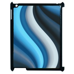 Abstract Pattern Lines Wave Apple Ipad 2 Case (black)