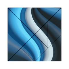 Abstract Pattern Lines Wave Acrylic Tangram Puzzle (6  x 6 )