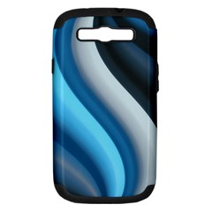 Abstract Pattern Lines Wave Samsung Galaxy S III Hardshell Case (PC+Silicone)