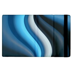 Abstract Pattern Lines Wave Apple Ipad 3/4 Flip Case