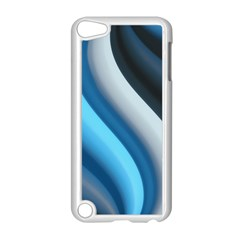 Abstract Pattern Lines Wave Apple iPod Touch 5 Case (White)