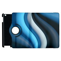 Abstract Pattern Lines Wave Apple Ipad 2 Flip 360 Case