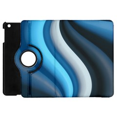 Abstract Pattern Lines Wave Apple Ipad Mini Flip 360 Case