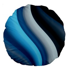Abstract Pattern Lines Wave Large 18  Premium Round Cushions