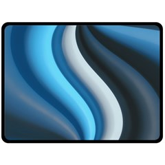 Abstract Pattern Lines Wave Double Sided Fleece Blanket (Large)