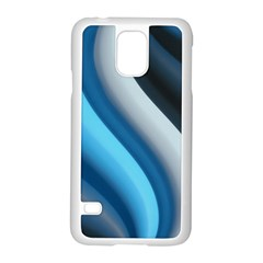 Abstract Pattern Lines Wave Samsung Galaxy S5 Case (White)