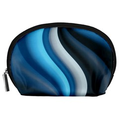 Abstract Pattern Lines Wave Accessory Pouches (large)