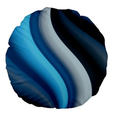 Abstract Pattern Lines Wave Large 18  Premium Flano Round Cushions