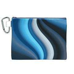 Abstract Pattern Lines Wave Canvas Cosmetic Bag (xl)