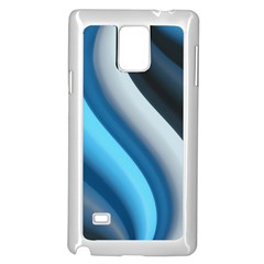 Abstract Pattern Lines Wave Samsung Galaxy Note 4 Case (white)