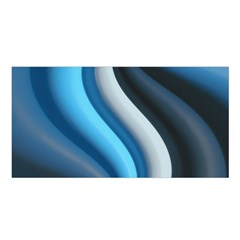 Abstract Pattern Lines Wave Satin Shawl
