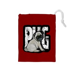 Pug Drawstring Pouches (Medium)