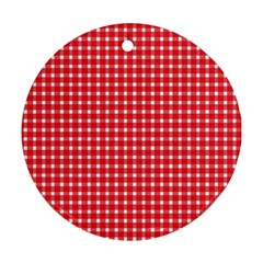 Pattern Diamonds Box Red Ornament (round)
