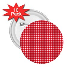 Pattern Diamonds Box Red 2.25  Buttons (10 pack)