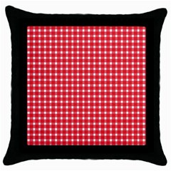 Pattern Diamonds Box Red Throw Pillow Case (Black)