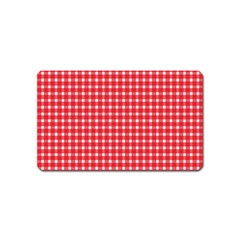 Pattern Diamonds Box Red Magnet (name Card)