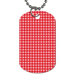Pattern Diamonds Box Red Dog Tag (two Sides)