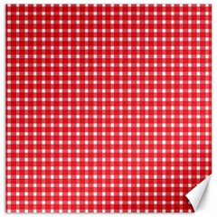 Pattern Diamonds Box Red Canvas 16  X 16