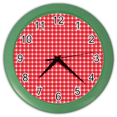 Pattern Diamonds Box Red Color Wall Clocks