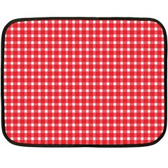 Pattern Diamonds Box Red Double Sided Fleece Blanket (mini)