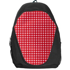 Pattern Diamonds Box Red Backpack Bag