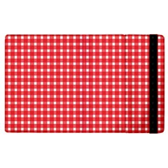 Pattern Diamonds Box Red Apple Ipad 3/4 Flip Case