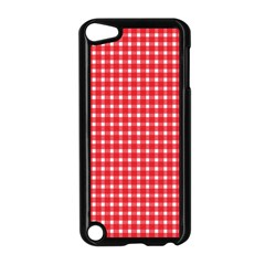 Pattern Diamonds Box Red Apple iPod Touch 5 Case (Black)