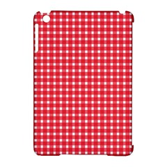 Pattern Diamonds Box Red Apple Ipad Mini Hardshell Case (compatible With Smart Cover)