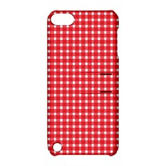 Pattern Diamonds Box Red Apple iPod Touch 5 Hardshell Case with Stand