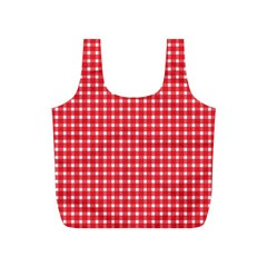 Pattern Diamonds Box Red Full Print Recycle Bags (s)