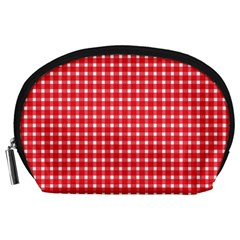 Pattern Diamonds Box Red Accessory Pouches (large)