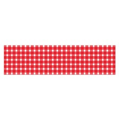 Pattern Diamonds Box Red Satin Scarf (Oblong)