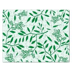Leaves Foliage Green Wallpaper Rectangular Jigsaw Puzzl