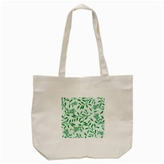 Leaves Foliage Green Wallpaper Tote Bag (cream)