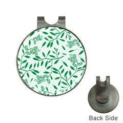 Leaves Foliage Green Wallpaper Hat Clips with Golf Markers