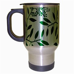 Leaves Foliage Green Wallpaper Travel Mug (Silver Gray)