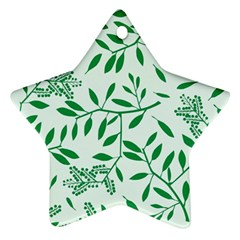 Leaves Foliage Green Wallpaper Star Ornament (two Sides)