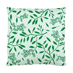 Leaves Foliage Green Wallpaper Standard Cushion Case (two Sides)