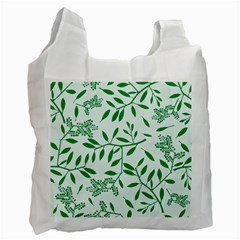 Leaves Foliage Green Wallpaper Recycle Bag (Two Side)