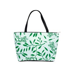 Leaves Foliage Green Wallpaper Shoulder Handbags