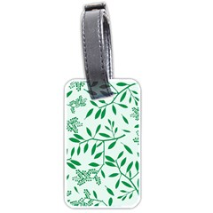 Leaves Foliage Green Wallpaper Luggage Tags (two Sides)