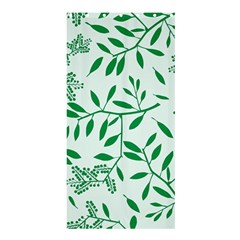 Leaves Foliage Green Wallpaper Shower Curtain 36  x 72  (Stall)