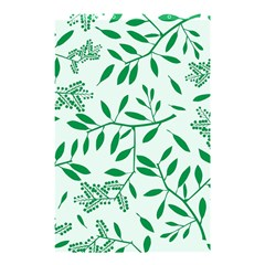 Leaves Foliage Green Wallpaper Shower Curtain 48  x 72  (Small)