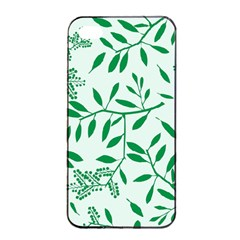 Leaves Foliage Green Wallpaper Apple Iphone 4/4s Seamless Case (black)