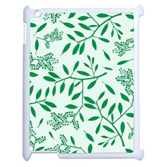 Leaves Foliage Green Wallpaper Apple iPad 2 Case (White)