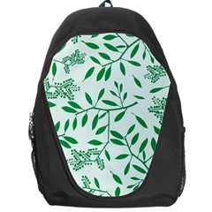Leaves Foliage Green Wallpaper Backpack Bag